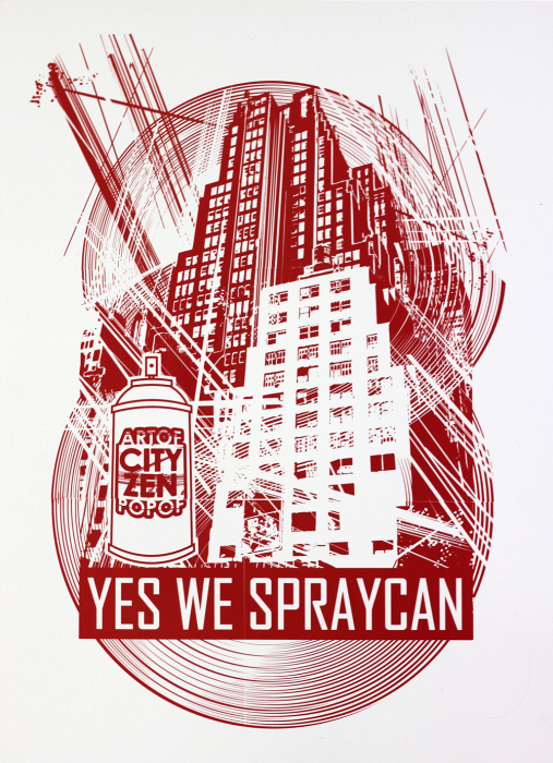 ARTOF POPOF Yes we spraycan sur Strip art