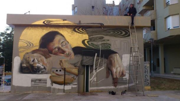 Street Art de MESA Barcelone