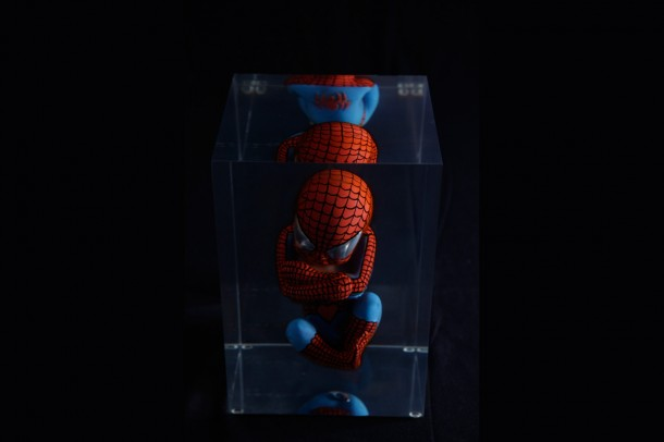 Sculpture Alexandre Nicolas Art urbain Spiderman