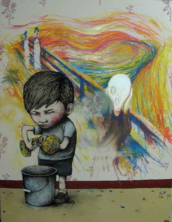 ART URBAIN DRAN le cri