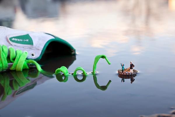 Street art Slinkachu Fantastic Voyage