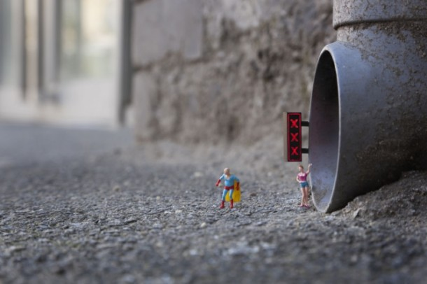 Street art Slinkachu The Lair