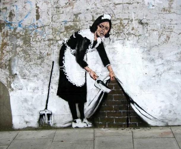 Street Art Banksy S Empare De La Grosse Pomme Sur
