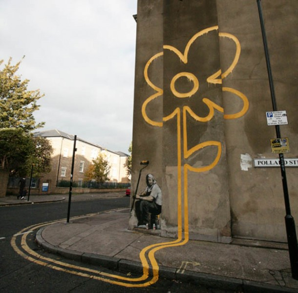 banksy-yellow-flower