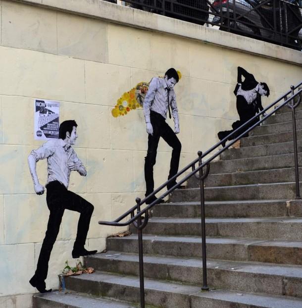 Levalet expose la galerie nunc sur strip art le blog - Galerie street art paris ...