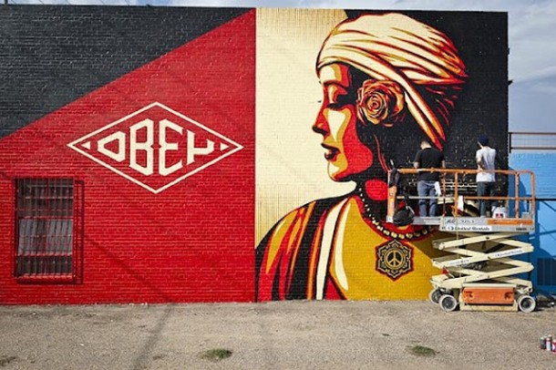 Street Art OBEY Fresque 01