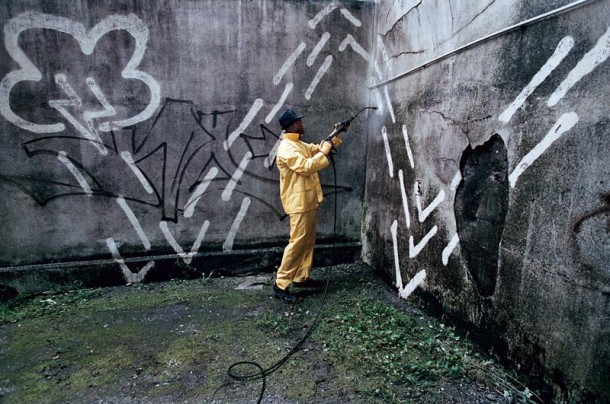 street art zevs reverse graffiti