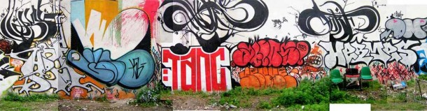 Street Art TANC Graffiti 02