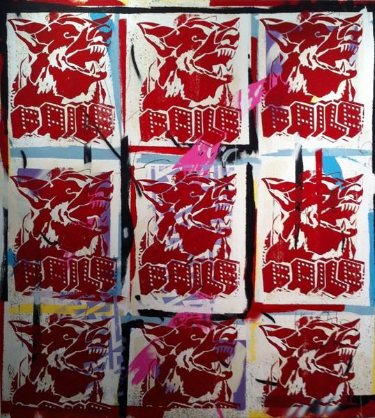 Street art FAILE Collectif d'artiste 09 DOG