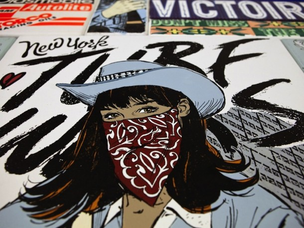 Street art FAILE Collectif d'artiste 22 Expo Dallas dec 2013