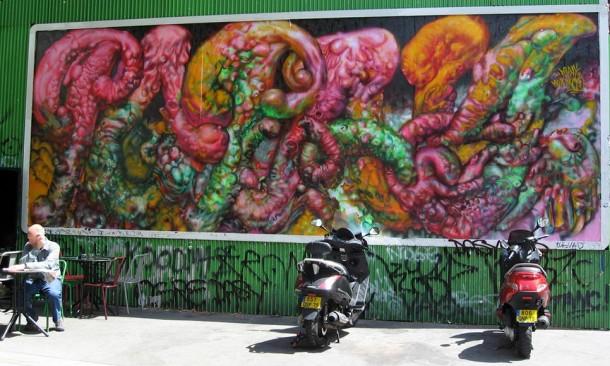 street art POPAY 06 M.U.R Paris