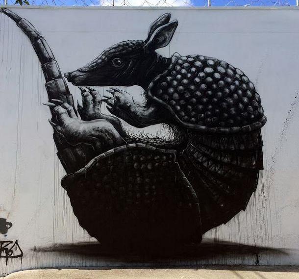 ROA Mural x Art Basel in Miami dec 2013