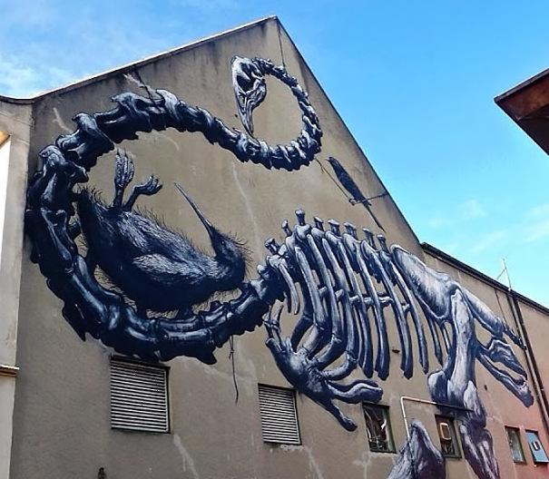 ROA in New Zealand for the Rise Street Art Festival