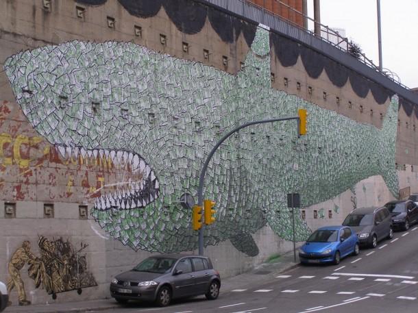 Street art baleine
