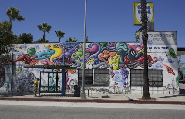 Street art Kenny Scharf Culver City