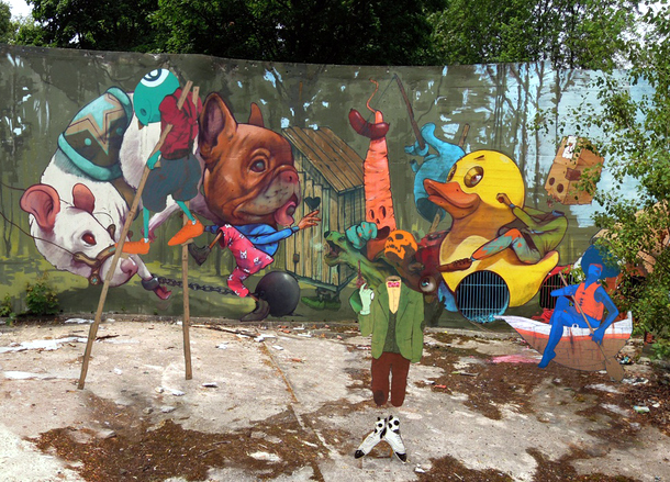 ETAM CREW Street-art Fresque XXL