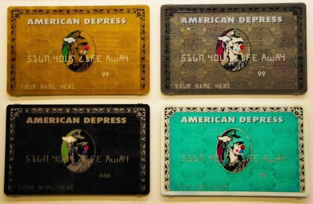 """Street art D*Face 05 """"American Depress"""""""