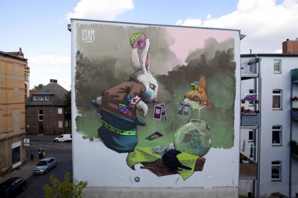ETAM CREW Street-art Fresque murale Makao, Halle, Allemagne