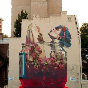 ETAM CREW Street-art Fresque murale Moonshine, Richmond, USA