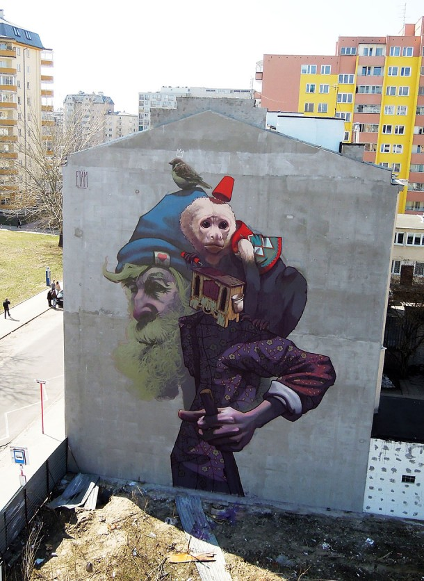 ETAM CREW  Street-art Fresque murale Monkey Business, Varsovie, Pologne
