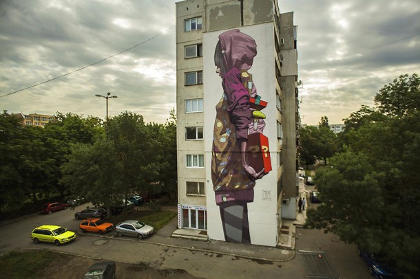 ETAM CREW  Street-art Fresque murale Surprise, Sofia, Bulgarie