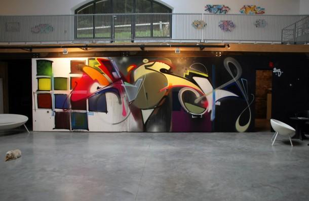 Fresque murale Adrian Falkner
