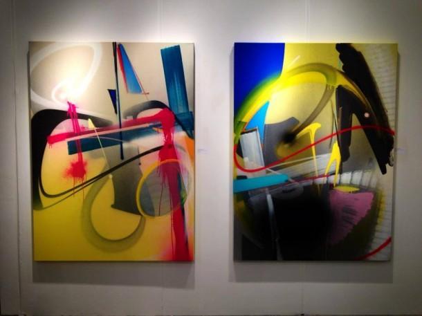 Toiles Adrian Falkner x LSC Gallery à Detroit