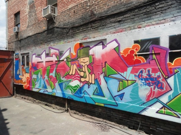 T-kid 170 Graffiti Fresque murale