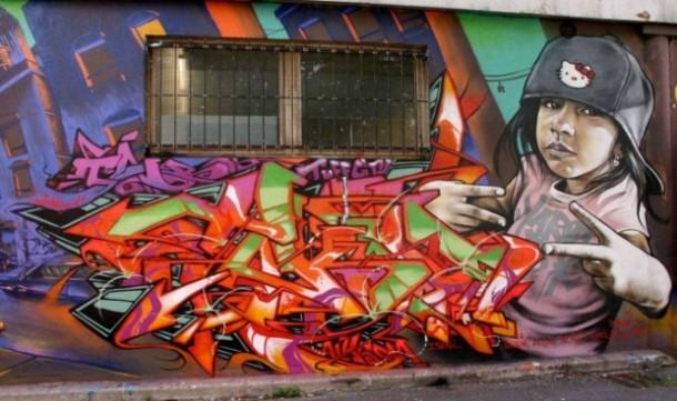 T-kid 170 Fresque murale PARIS