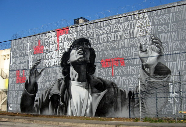 Street art  05 El MAC + RETNA /Marquis Lewis