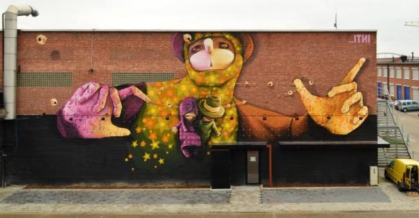 Street art INTI Belgique en 2013