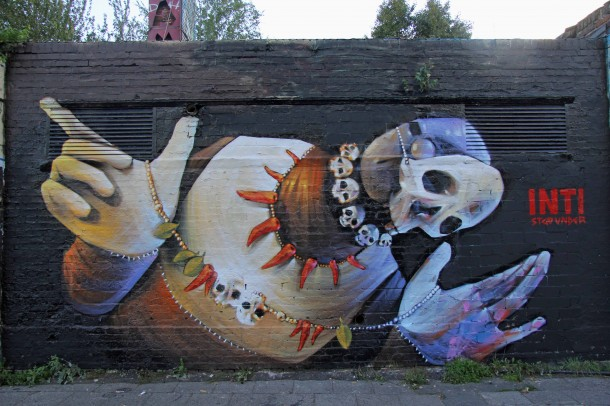 Street art INTI à Berlin