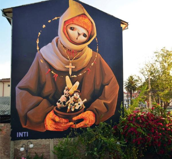 Street art INTI à Cochabamba, Bolivie