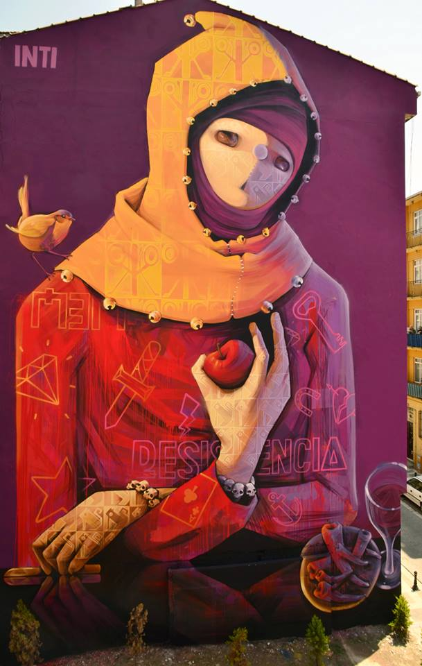 Street art INTI à ISTANBUL Turquie