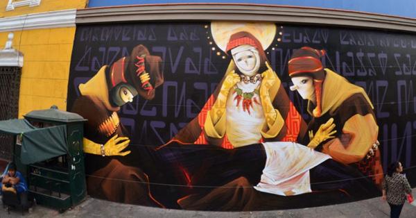 Street art INTI à Lima, Perú