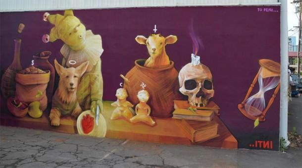 Street art INTI au PowWow Festival