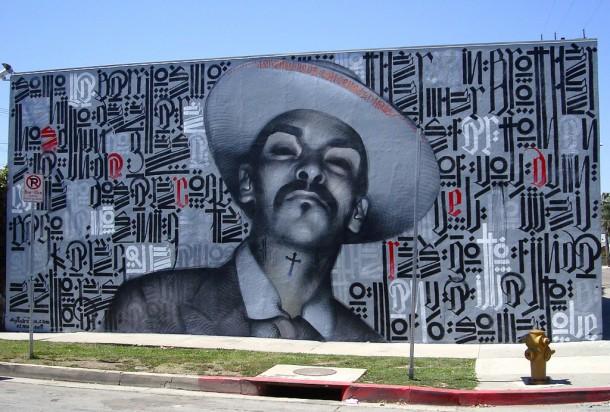 Street art  04 El MAC + RETNA /Marquis Lewis