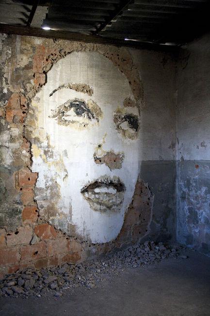 Vhils Street art Fresque murale 10