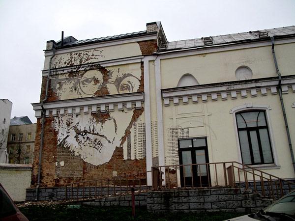Vhils Street art Fresque murale 01