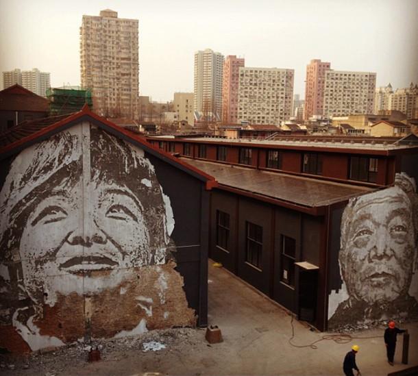 Vhils Street art Fresque murale 07