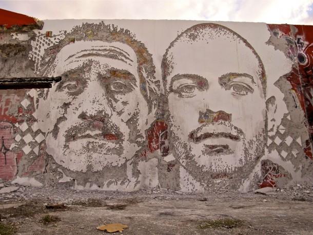 Vhils Street art Fresque murale 05