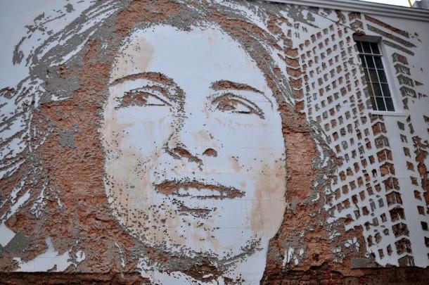 Vhils Street art Fresque murale 13