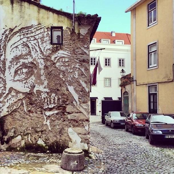 Vhils Street art Fresque murale 11