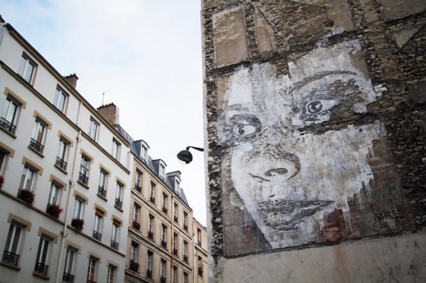 Vhils Street art Paris Nuit Blanche
