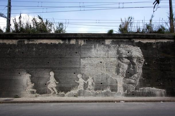 Vhils Street art Fresque murale 12