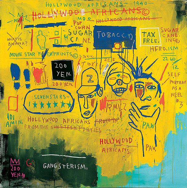 "Toile ""Hollywood Africans de Basquiat"