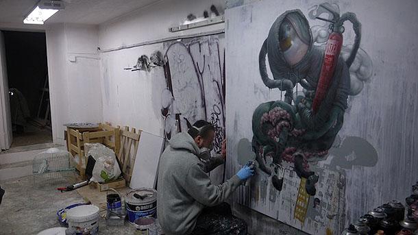 Street art Bom K