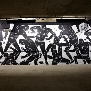Palais de Tokyo - Cleon Peterson, Brutal, 2013, Londres.