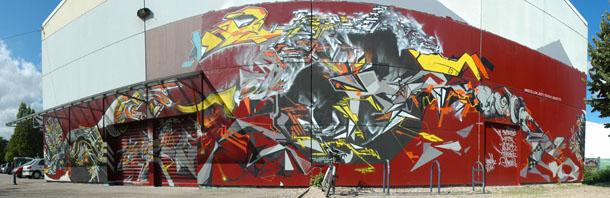 Graffiti avec Gilbert1, Lek, Tcheko et Dem 189
