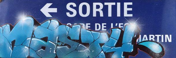 Street art sortie gare de l'est